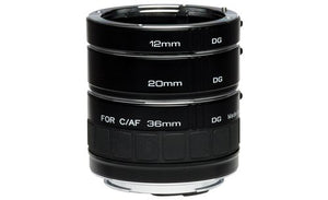 Kenko Auto Extension Tube Set DG (12, 20 & 36mm Tubes) for Nikon Digital and Film Cameras A-EXTUBEDG-N - The Camera Box