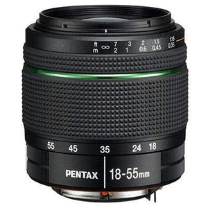 Pentax KP DSLR Camera (Black) + Pentax DA 18-55mm f/3.5-5.6 AL WR Zoom Lens
