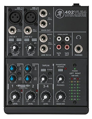 Mackie 402VLZ4, 4-channel Ultra Compact Mixer with Mackie Mixer Bag - The Camera Box