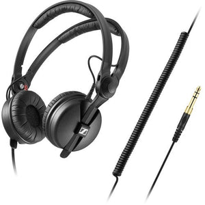 Sennheiser HD 25 PLUS On-ear closed back Monitor DJ Headphones with SLAPPA SL-HP-99 HardBody Ballistic Nylon PRO Headphone Case