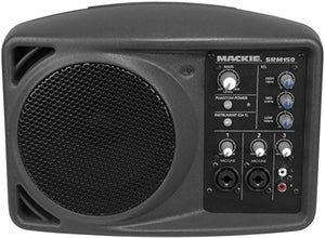 "Mackie SRM150 5"" Compact Powered Active PA Monitor Speaker & SRM 150 Travel Bag"