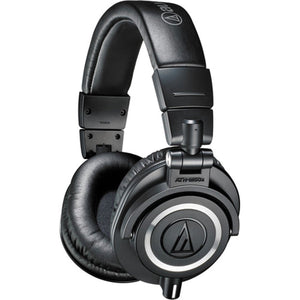 Audio-Technica ATH-M50x Monitor Headphones (Black) with a Professional monitor headphone case - The Camera Box