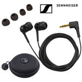 Sennheiser IE 4 Earphones with a SLAPPA SL-HP-09 HardBody Earbud Case (Black)
