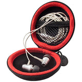 Audio-Technica ATH-E40 E-Series Professional In-Ear Monitor Headphones + SLAPPA SL-HP-09 HardBody Earbud Case (Black)