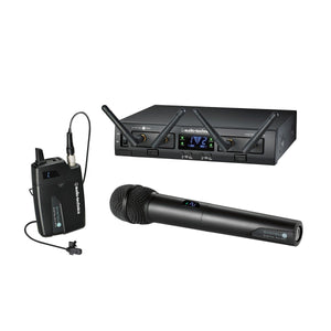 Audio-Technica Dual Channel Handheld Lavalier Microphone Rack Mount ATW-1312/L - The Camera Box