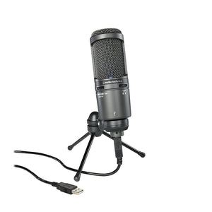 Audio-Technica AT2020USB+ Cardioid Condenser USB Microphone + AT8458 Shock Mount - The Camera Box