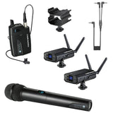Audio-Technica System 10 - Digital Wireless Camera-Mount System with Lavalier Mic - ATW-1701/L set - The Camera Box