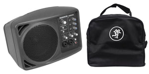 "Mackie SRM150 5"" Compact Powered Active PA Monitor Speaker & SRM 150 Travel Bag - The Camera Box"