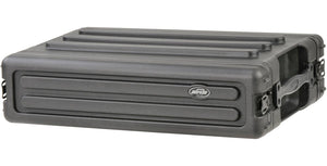 SKB 2U Roto Shallow Rack Case with Steel Rails
