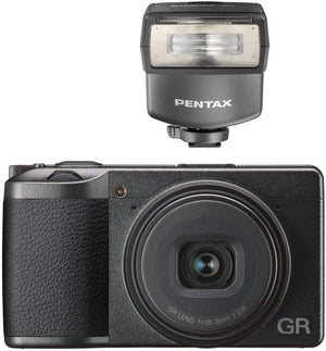Ricoh GR III Digital Camera with Pentax AF-200FG P-TTL Shoe Mount Flash