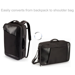 "Slappa Pivot 18.4"" Checkpoint Friendly Convertible Laptop Backpack & Shoulder Bag, Black (SL-SBP-01)"