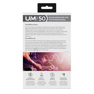 Westone UM Pro 50 Five-Driver Universal-Fit In-Ear Musicians' Monitors with Removable MMCX Audio Cable