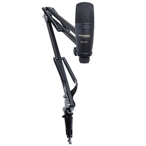 Marantz Professional USB Microphone with Broadcast Stand and Cable - The Camera Box