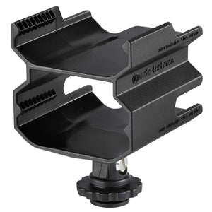 Audio-Technica AT8691 Camera Shoe Dual Mount for ATW-R1700 Digital Wireless Receiver - The Camera Box