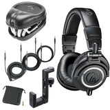 Audio-Technica ATH-M50x Monitor Headphones - Black (with Slappa Hard Case and Hanger)