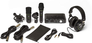 Mackie Producer Bundle - USB Audio/MIDI Interface, Condenser Mic, Dynamic Mic, and Headphones