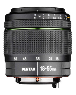 Pentax KP DSLR Camera (Black) + Pentax DA 18-55mm f/3.5-5.6 AL WR Zoom Lens - The Camera Box