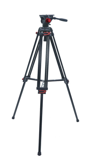 RedLine 7518-3 Professional Video Tripod with F18-3 Fluid Head + Redline D3 Universal Folding Dolly