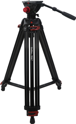 RedLine 7518-3 Professional Video Tripod with F18-3 Fluid Head plus FREE Redline D3 Universal Folding Dolly