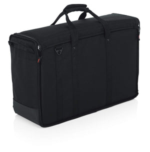 "Gator Cases Padded Nylon Dual Carry Tote Bag for Transporting (2) LCD Screens, Monitors and TVs Between 19"" - 24""; (G-LCD-TOTE-SMX2) - The Camera Box"