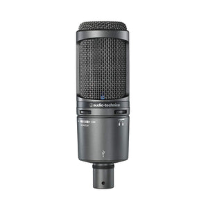 Audio-Technica AT2020USB+PK Vocal Microphone Pack with ATH-M20x, Boom & USB Cable for Podcasting - The Camera Box