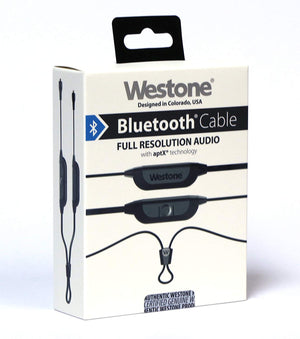 Westone Bluetooth Earphone & in-Ear Monitor Cable with Microphone MMCX Connector and 8 Hours of Battery Life (Apple & Android Compatible)