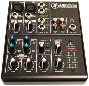 Mackie 402VLZ4 4-channel Ultra Compact Mixer with High Quality Onyx Preamps - The Camera Box