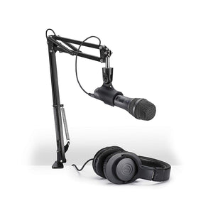Audio-Technica AT2005USBPK Vocal Microphone Pack for Streaming/Podcasting with M20x headphones and Boom Arm