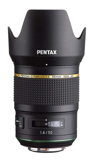 Pentax HD Pentax D FA 50mm 1.4 SDM AW Full Frame, All Weather Camera Lens, Black