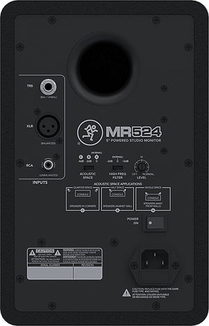 "Mackie MR524 - 5"" 2-Way Powered Studio Monitor (Single) - The Camera Box"