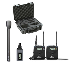Sennheiser EW 100 ENG G4-A Wireless Basic Kit plus Audio-Technica AT8004-L Handheld Omnidirectional Dynamic Microphone (Long Handle) and SKB Waterproof Case