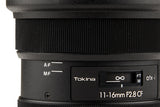 TOKINA ATX-i 11-16mm CF f/2.8 Lens for Canon EF (APS-C)