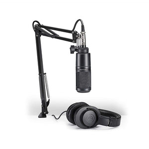 Audio-Technica AT2020 Studio Microphone Pack with ATH-M20x, Boom & XLR Cable - The Camera Box