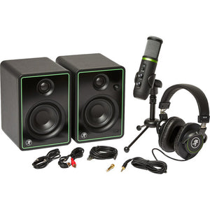 "Mackie Creator Bundle, Includes:  3"" Multimedia Monitors, USB Microphone, and Headphones"