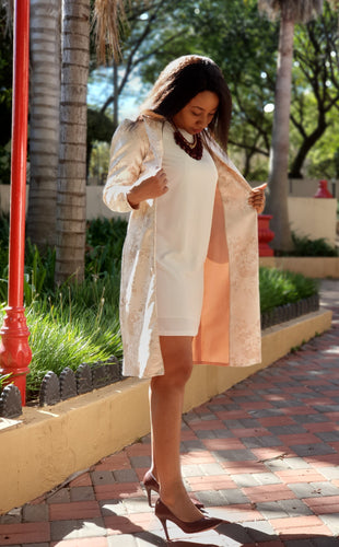 Peach jacket with pockets