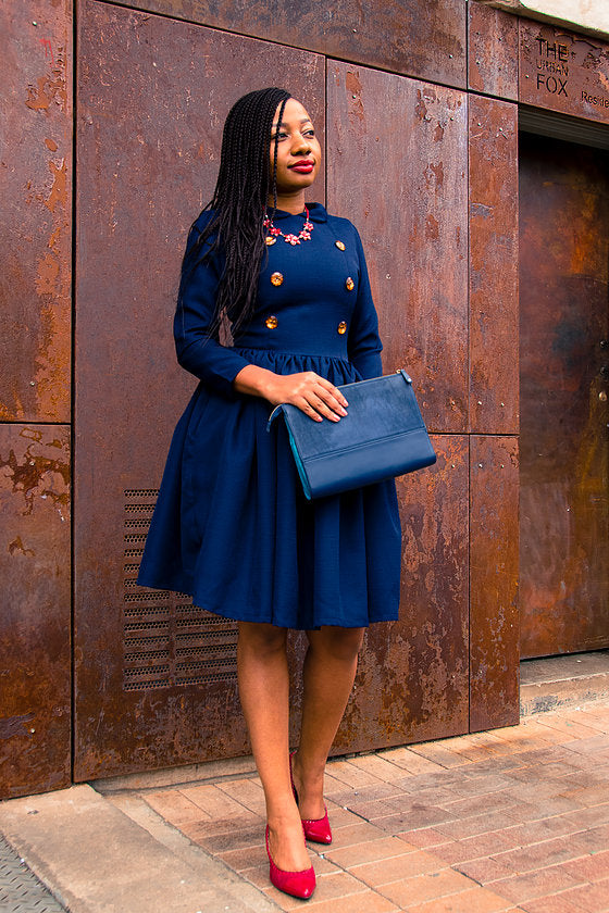 Vintage collared dress