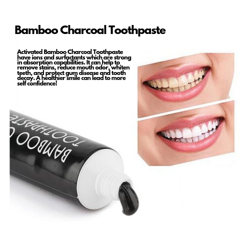 Activated Bamboo Charcoal Toothpaste w/ FREE Gift!