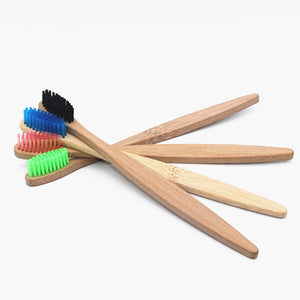Natural Bamboo Toothbrush 4pk Set