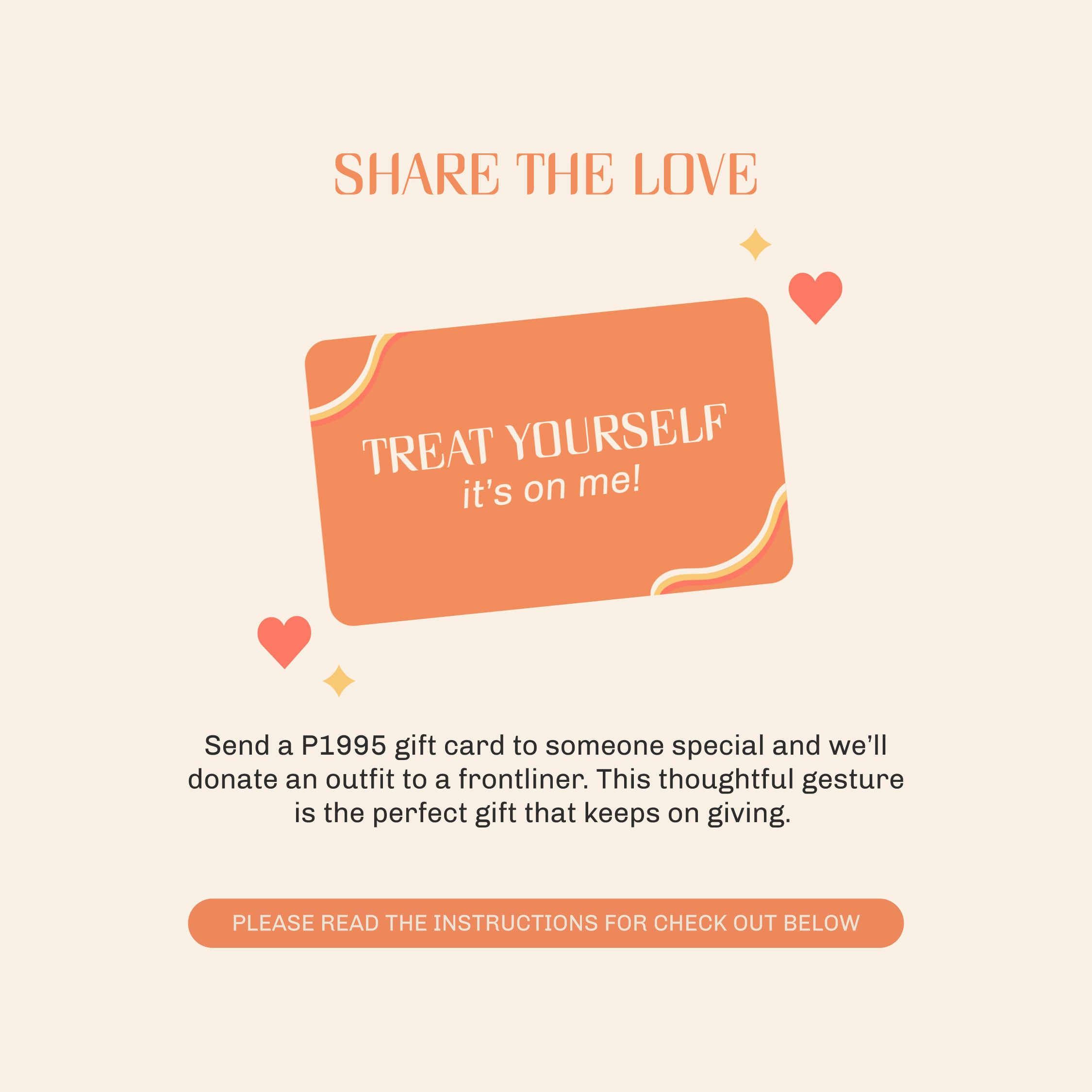 SHARE THE LOVE GIFT CARD