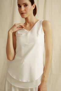 Tucci Sleeveless Top with Zip