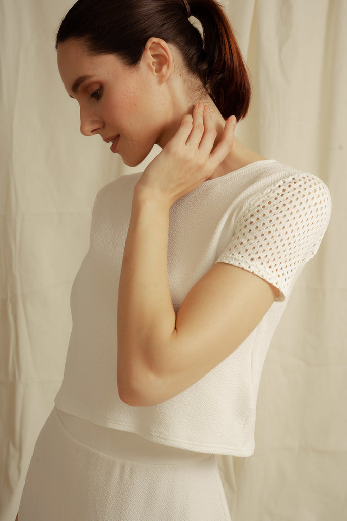 Pimlico Long Crop Top (with net)