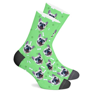 Custom Sock Dog Footprint - Make Face Socks