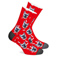 Load image into Gallery viewer, Custom Sock Dog Footprint - Make Face Socks