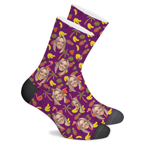 Flamingo Custom Socks - Make Face Socks