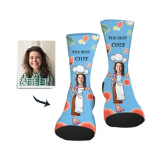 Load image into Gallery viewer, Custom Sock Best Chef - Make Face Socks