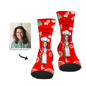 Custom Sock Best Chef - Make Face Socks