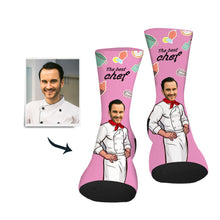 Load image into Gallery viewer, Custom Sock Best Chef Man - Make Face Socks