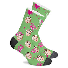 Load image into Gallery viewer, Custom Sock I Love Mom - Make Face Socks