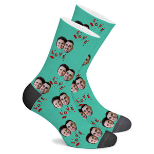 L O V E Custom Socks - Make Face Socks