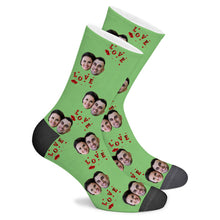 Load image into Gallery viewer, L O V E Custom Socks - Make Face Socks